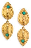 Lizzie Fortunato Concho Turquoise Drop Earrings