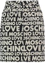 Love Moschino Printed Stretch Cotton-Twill Mini Skirt