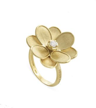 Marco Bicego Petali 18k Flower Ring w/ Diamond, Size 7
