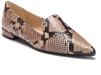 LK Bennett Arie Snake Embossed Leather Flat