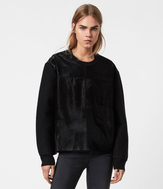 AllSaints Aria Leather Sweater
