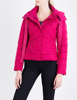 Armani Jeans Ladies Fuxia Quilted Casual Shell Puffa Jacket