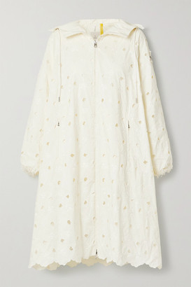 MONCLER GENIUS 4 Simone Rocha Zaleaia Hooded Bead-embellished Embroidered Shell Coat - Cream