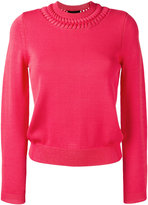Emporio Armani crewneck knit sweater - women - Polyamide/Viscose - 42