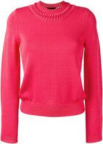 Emporio Armani crewneck knit sweater - women - Viscose/Polyamide - 40