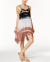Raviya Tie-Dyed Fringed Cover-Up