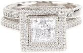 Lafonn Micro Pave Simulated Diamond Wedding Ring Set