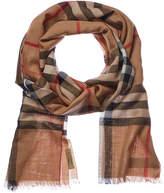 Burberry Lightweight Check Wool & Silk-Blend Scarf