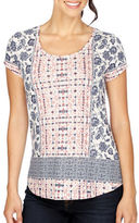 Lucky Brand Cotton Blend Printed Top