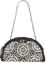 Eric Javits Sandra Embellished Half-Moon Clutch Bag