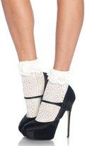 Leg Avenue Women's Crochet Heart Anklet Socks