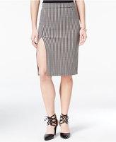 XOXO Juniors' Front-Slit Houndstooth Pencil Skirt