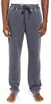 Daniel Buchler Men's Washed Cotton Blend Terry Lounge Pants