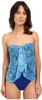 Lauren Ralph Lauren Oceania Floral Flyaway Strapless One-Piece w/ Molded Cup
