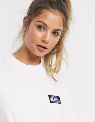 Quiksilver Mock Neck long sleeved t-shirt in white