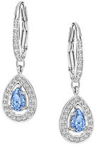 Swarovski Attract Light Blue Pear Drop Earrings
