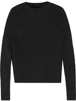 Rick Owens Crater Ribbed Cashmere-blend Sweater - Charcoal