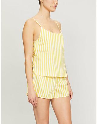 Les Girls Les Boys Striped cotton pyjama camisole top