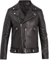 Acne Studios Nate Clean oversized leather biker jacket
