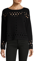 Plenty by Tracy Reese Eyelet Dropped Shoulder Sweater