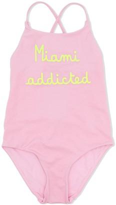 MC2 Saint Barth Miami addicted print swimsuit