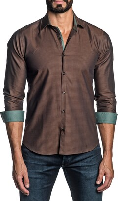 Jared Lang Regular Fit Geometric Button-Up Shirt