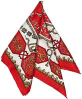 Hermes Women's Vintage Red Silk Scarf