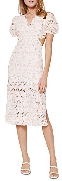 Rahi Perrie Backless Eyelet Midi Dress
