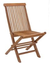 ZUO Regatta Outdoor Folding Dining Chair with Natural Finish (Set of 2)