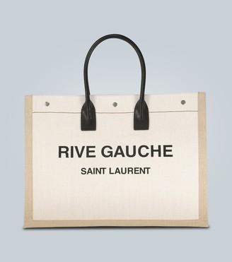 Saint Laurent Rive Gauche canvas tote