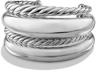 David Yurman Pure Form Four Row Cuff in Sterling Silver