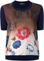 Salvatore Ferragamo gradient poppy print top - women - Silk/Cotton/Viscose - M