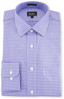 Neiman Marcus Classic-Fit Regular-Finish Check-Print Dress Shirt, Purple
