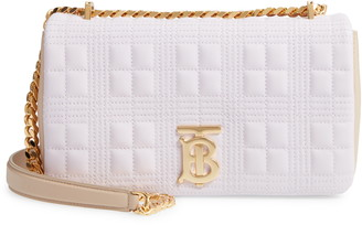 Burberry Small Lola Quilted Two-Tone Lambskin Bag