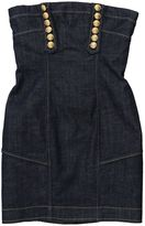 DSQUARED2 Blue Denim Strapless Mini Dress