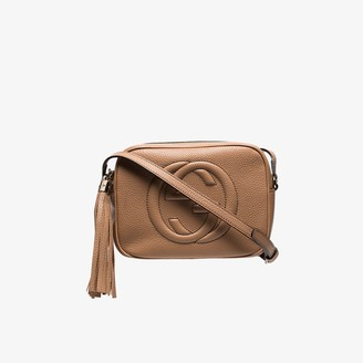 Gucci Neutral Soho leather disco bag