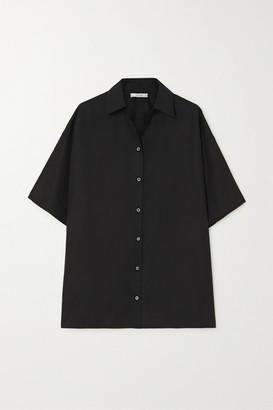 The Row Sissa Cotton-poplin Shirt - Black