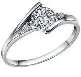 Acme Classic Sparkling Diamond Ring Promise Engagement Wedding Rings for Women
