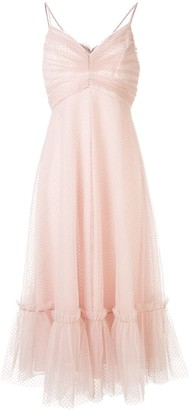 Zimmermann Dotted Tulle Flared Dress