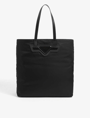 Prada Brand-plaque large nylon tote