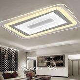 Cttsb Living room lamp rectangular LED bedroom lamps simple modern ultra-thin ceiling lamp room balcony restaurant ceiling lamp, diameter 40cm (electrodeless dimming 38W)