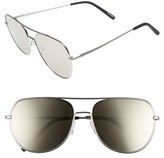 Quay Men's Living Large 61Mm Aviator Sunglasses - Z/dnu Gun/ Blue
