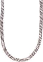 Love Rocks Crystal Mesh Tube Necklace