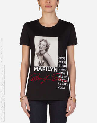Dolce & Gabbana Jersey T-Shirt With Marilyn Monroe Print And Embroidery