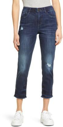 Wit & Wisdom Women's Ab-Solution High Waist Raw Hem Skinny Jeans