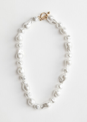 And other stories Organic Pearl Bead Necklace