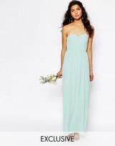 TFNC WEDDING Bandeau Chiffon Maxi Dress