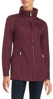 Ellen Tracy Mixed Quilted Coat