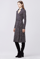 Diane von Furstenberg Cybil Silk Jersey Midi Wrap Dress