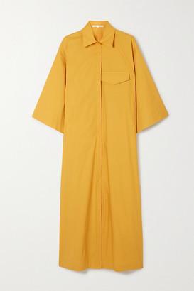 Bouguessa Cotton Midi Shirt Dress - Mustard